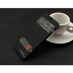 Husa s view neagra Huawei Ascend G510 + folie protectie ecran