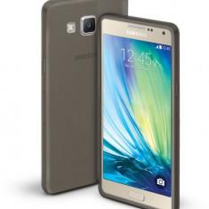 Husa transparenta neagra soft silicon Samsung Galaxy A5 + cablu date