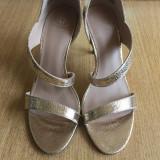 Sandale Super Elegante - Sandale dama, Culoare: Auriu, Marime: 38