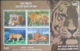 BANGLADESH 2013 - TIGRI, 4 VALORI IN M/SH, NEOBLIT - E2417