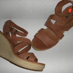 OFERTA! Sandale talpa ortopedica TIMBERLAND originale noi piele nubuck Sz.40! - Sandale dama Timberland, Culoare: Cappuccino, Piele naturala