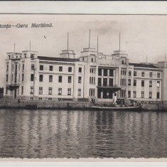 CONSTANTA, GARA MARITIMA - Carte Postala Dobrogea 1904-1918, Necirculata, Fotografie