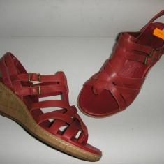 OFERTA! Sandale dama TIMBERLAND originale noi piele manusa foarte comode sz.37 !, Culoare: Rosu, Marime: 37.5, Piele naturala