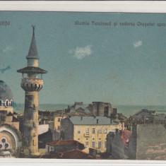 CONSTANTA, GIAMIA TURCEASCA SI VEDEREA ORASULUI SPRE PORT - Carte Postala Dobrogea 1904-1918, Necirculata, Printata
