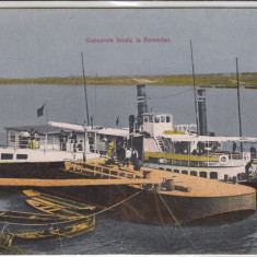 GIURGIU, VAPOARELE LOCALE LA RAMADAN, CIRCULATA SEPT. 1918 - Carte Postala Muntenia 1904-1918, Necirculata, Printata
