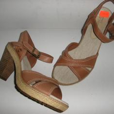 Sandale dama TIMBERLAND Earth Keepers originale noi piele foarte comode 38 !, Culoare: Cappuccino, Piele naturala