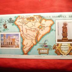 Colita - Harta America Sud - Expozitia Arbrafex 88 Argentina - Timbre straine