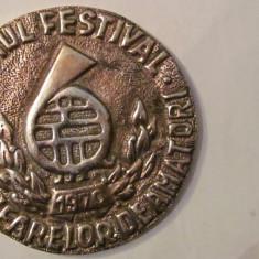 """MMM - Medalie Romania """"Primul Festival al Fanfarelor de Amatori 1970"""" aluminiu"""