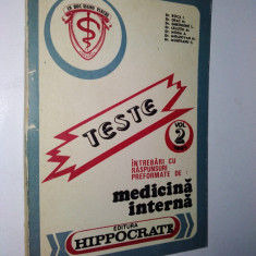 Teste - medicina interna - 1991 - Carte Teste Nationale