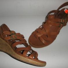 Sandale dama TIMBERLAND originale noi piele manusa foarte comode 37.5, Culoare: Cappuccino, Piele naturala