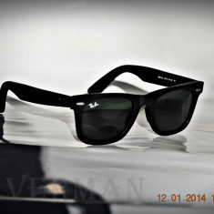 Ochelari de soare Ray Ban Wayfarer RB2140 901S negru mat, Unisex, Plastic, Protectie UV 100%