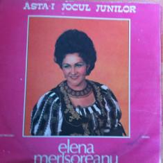 ELENA MERISOREANU Asta i jocul junilor disc vinyl Muzica Populara electrecord folclor lp, VINIL