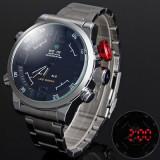 Ceas WEIDE WH2309B - Militar Sport , Barbatesc , LED , Quartz , Dual Time