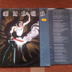 Kansas Power album disc vinyl lp ed vest mapa texte muzica prog pop rock 1986, VINIL