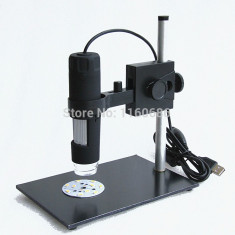 Microscop video digital USB 1000X REAL(!) 2MB CMOS 8LED cu STAND SPECIAL +CADOU!