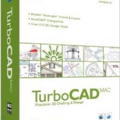 TurboCAD MAC v3.0 - Soft Apple, Mac OS X 10.5, CD, Retail, Numar licente: 1