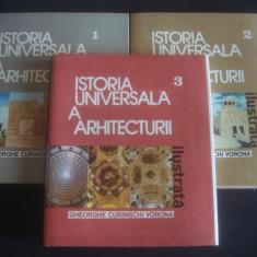 GHEORGHE CURINSCHI VORONA - ISTORIA UNIVERSALA A ARHITECTURII 3 volume - Carte Arhitectura