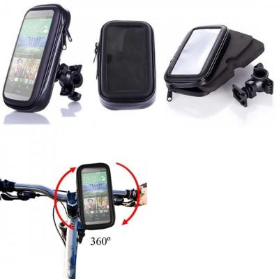 Suport bicicleta impermeabil waterproof HTC ONE M8 + folie ecran foto