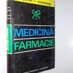 Dictionar cronologic Medicina - Farmacie Bucuresti 1975 - Carte Farmacologie
