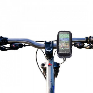 Suport bicicleta impermeabil waterproof HTC ONE M9 + folie ecran