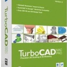 TurboCAD MAC PRO V3 - Soft Apple, Mac OS X 10.5, DVD, Retail, Numar licente: 1