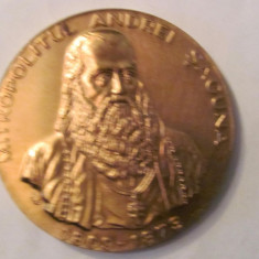 "MMM- Medalie Romania ""Mitropolitul Andrei Saguna 1809 - 1873"" bronz"