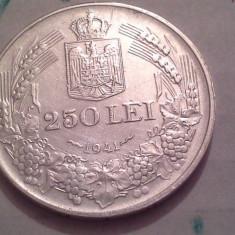 250 LEI 1941 a UNC-SUPERBISIMA /4 NIHIL SINE DEO SUPER LUCIU - Moneda Romania