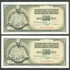 Iugoslavia 500 dinari 1981 _ UNC - bancnota europa