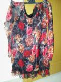 Bluza dama foarte frumoasa material triplu voal merge la M, L  pret 30 ron, 42, Maneca lunga, Multicolor