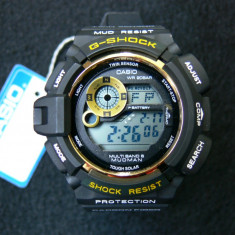 CEAS CASIO G-SHOCK G9300-1 MUDMAN BLACK&GOLD EDITION-MODEL 2017-POZE 100% REALE