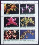 ANGOLA 2000 - ORHIDEE, 1 M/SH NEOBLITERATA, POSTA PRIVATA - PP 233
