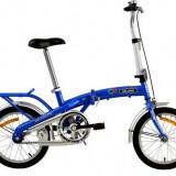 "Bicicleta pliabila Velors 16"", 12 inch, Numar viteze: 1"