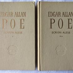 SCRIERI ALESE - 2 vol., Edgar A. Poe, 1963. Col. CLASICII LITERATURII UNIVERSALE, Alta editura