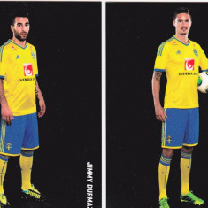 Lot 2 foto fotbalisti din echipa nationala a Suediei cu autografe originale