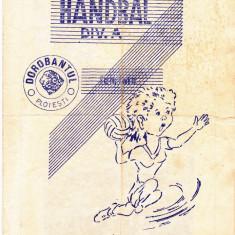 Program meci handbal TEXTILA PLOIESTI - MURESUL TG. MURES 12.05.1985