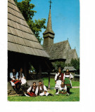 Carte Postala, vedere veche, 1975, port popular din Tara Oasului, vintage, Circulata, Printata