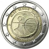 BELGIA moneda 2 euro comemorativa 2009 EMU-10 ani Uniune, UNC