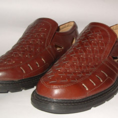 Pantofi de vara din piele pt. barbati noi Pablo Moda by Ardik mar.41, 26cm - Pantofi barbat Rieker, Culoare: Maro, Piele naturala