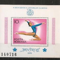 Romania.1976 Olimpiada de vara MONTREAL-colita dantelata   CR.487