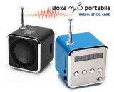 Mini boxa portabila cu radio si display