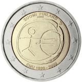 FINLANDA moneda 2 euro comemorativa 2009 EMU-10 ani Uniune, UNC