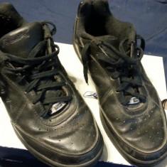 Adidasi Reebok Downtime Low Casual Black Man - Adidasi barbati Reebok, Marime: 43, Culoare: Negru, Piele naturala