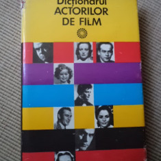 Dictionarul Actorilor De film hobby cinematografie movie ilustrat foto alb negru