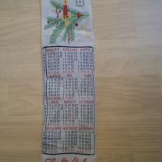 SEMN DE CARTE CALENDAR la multi ani 1984 rar vechi epoca de aur colectie hobby - Calendar colectie
