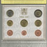 2009 Vatican Euro Set emisiune oficiala BENEDETTO XVI FDC - UNC, Europa