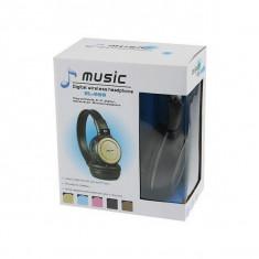 Casti wireless cu radio si card, Casti Over Ear, Fara Fir, Bluetooth