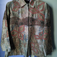 Bluza / tunica Chico' s Design, vintage, matase naturala, marimea 38-40