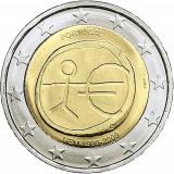 PORTUGALIA 2 euro comemorativa 2009 EMU (10 ani Uniune) - UNC