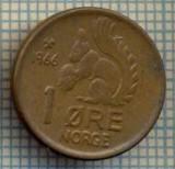 5781 MONEDA - NORVEGIA (NORGE) - 1 ORE - ANUL 1966 -starea care se vede