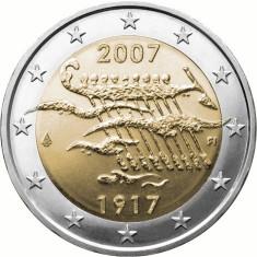 FINLANDA moneda 2 euro comemorativa 2007 - UNC